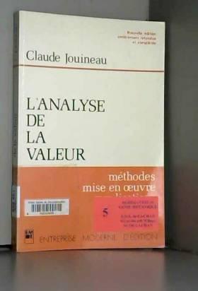 L'analyse de la valeur :...