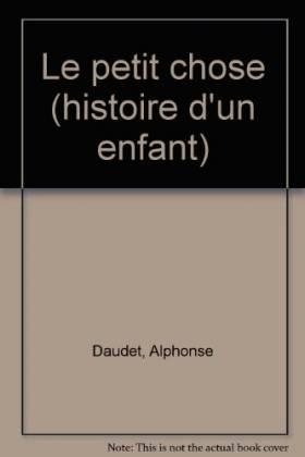 Le Petit chose : Histoire...