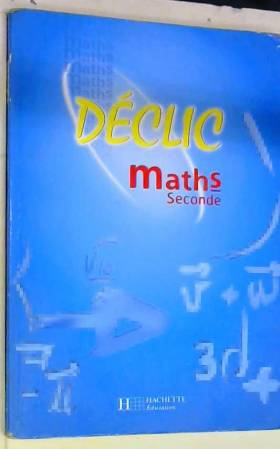 Maths, seconde. Elève