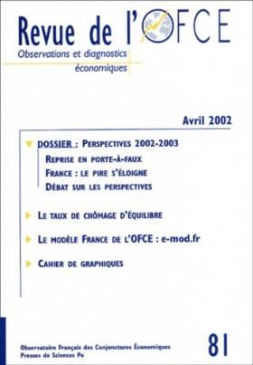 Revue de l'OFCE, numéro 81,...