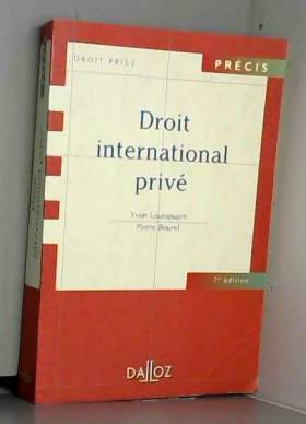Droit international privé,...