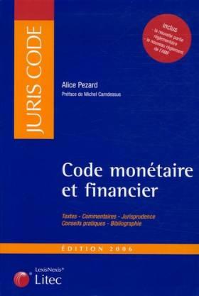 Code monétaire et financier...