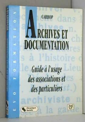 Archives et documentation :...