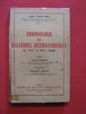 CHRONOLOGIE DES RELATIONS...