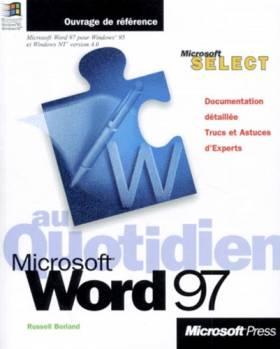 Microsoft Word 97 au Quotidien