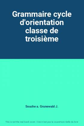 Grammaire cycle...