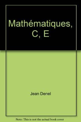 Mathématiques, C, E