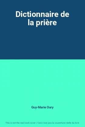 Dictionnaire de la prière