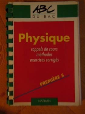 Physique, 1re S