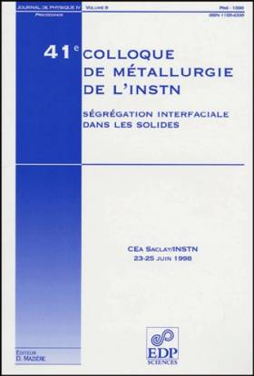 41e colloque de metallurgie...