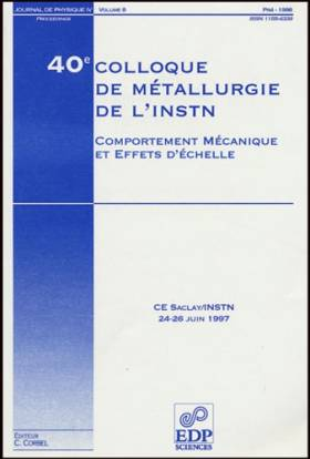 40e colloque de metallurgie...