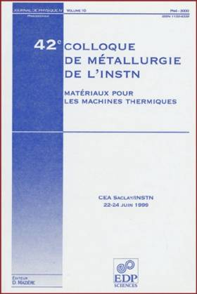 42e colloque de metallurgie...