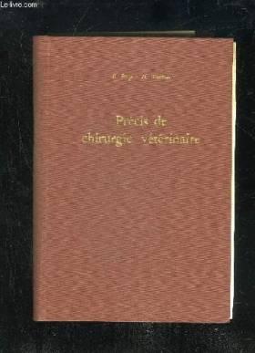 PRECIS DE CHIRURGIE...