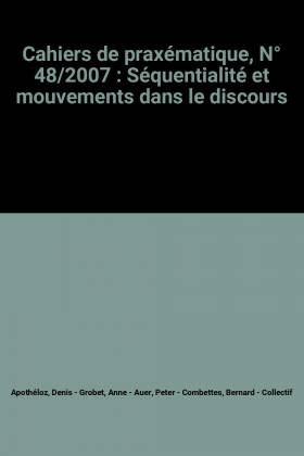 Cahiers de praxématique, N°...