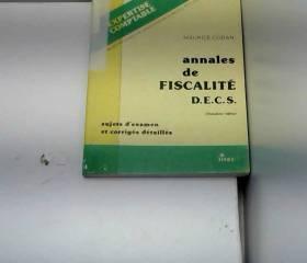 Annales de fiscalité. D.E.C.S.