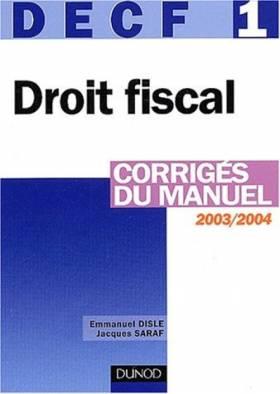 Droit fiscal 2003/2004,...