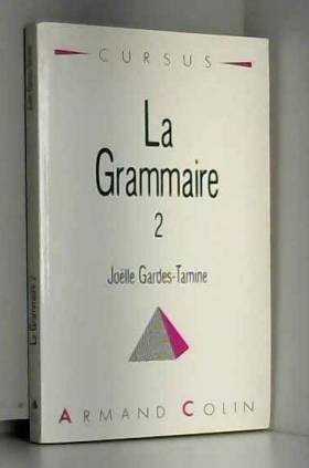 La grammaire 2 Syntaxe