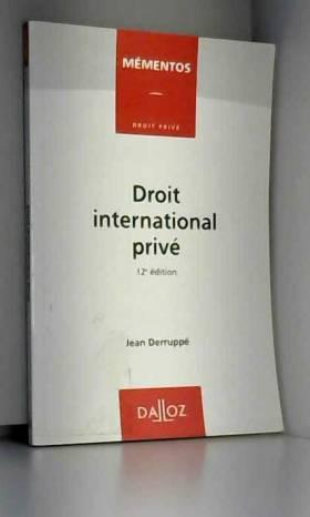 DROIT INTERNATIONAL PRIVE....