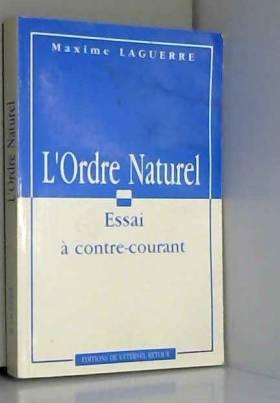 L'ordre naturel : Essai à...