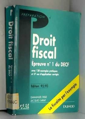 Droit fiscal, épreuve n°1...