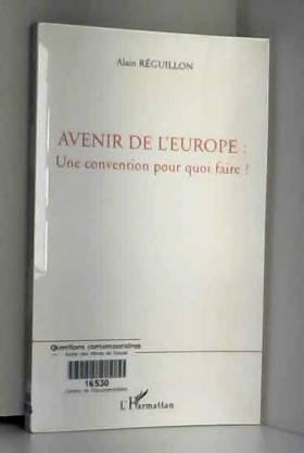 Avenir de l'Europe : une...