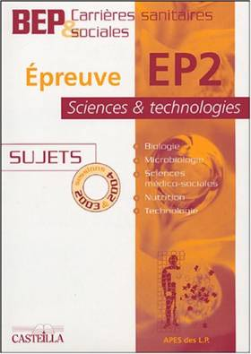 Epreuve EP2 Science et...