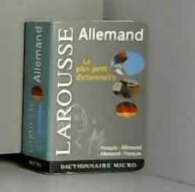 Larousse - Dictionnaire français-allemand  allemand-français
