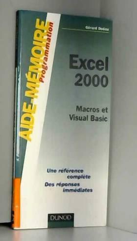 Aide-mémoire Excel 2000 :...
