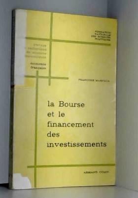 Bourse et financement des...