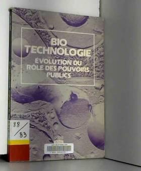 Biotechnologie : évolution...