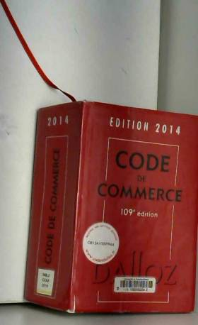 Code de commerce 2014 -...