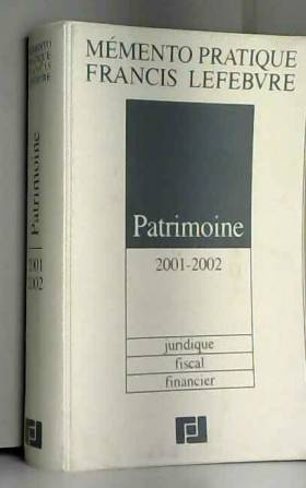 Patrimoine 2001-2002