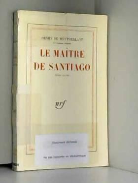 Le maître de santiago piéce...