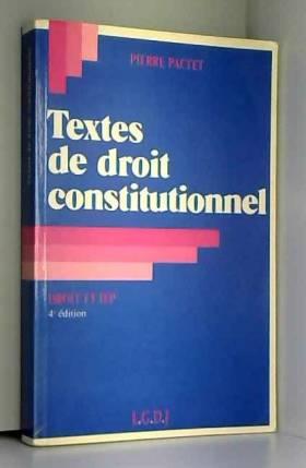 Textes de droit...