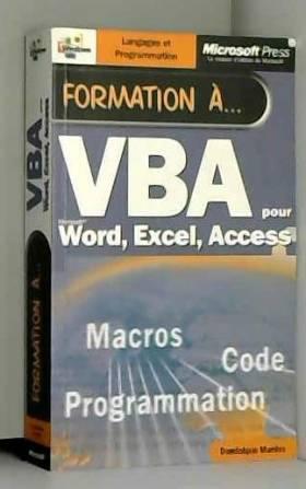 Formation a vba - manuel...
