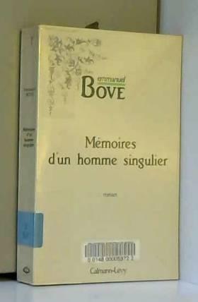 Bove - Memoires d'un homme singulier : roman