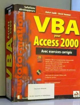 VBA pour Access 2000. Avec...