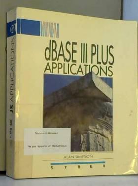 DBASE III PLUS, applications