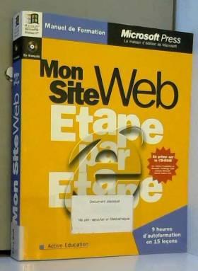 Mon site Web Etape par...