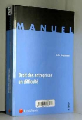 André Jacquemont - Droit des entreprises en difficulté