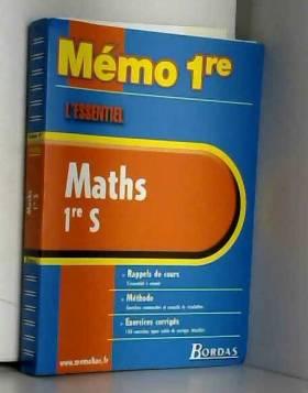MEMO ESSENTIEL MATHS 1ERE S...