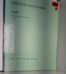 Niccolo Castiglioni - Alef Komposition für Oboe