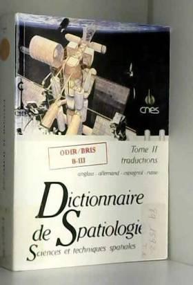 Dictionnaire de spatiologie