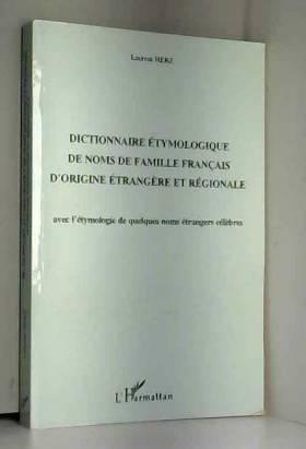Dictionnaire étymologique...