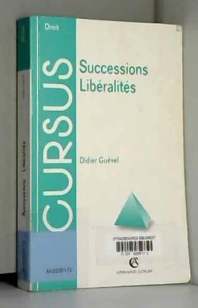 Successions, libéralités