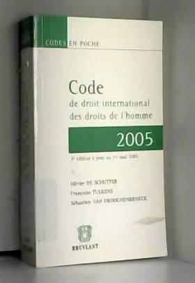 Code de droit international...