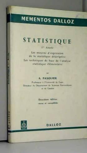 Statistique: 1re année: Les...