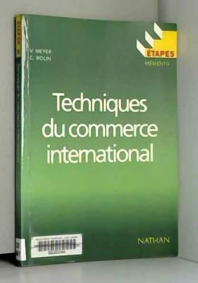Techniques du commerce...