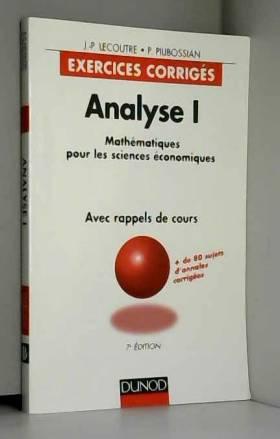 Lecoutre - Analyse, tome 1: exercices corrigés, 7e édition