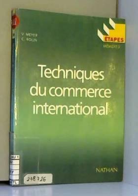 Meyer - Techniques du commerce international